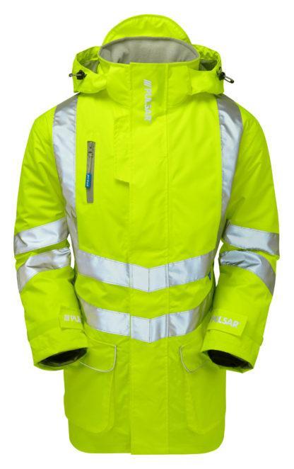 p187 padded yellow storm coat