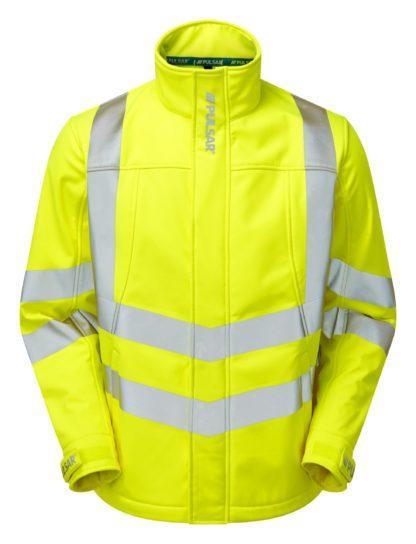 pulsar softshell jacket yellow