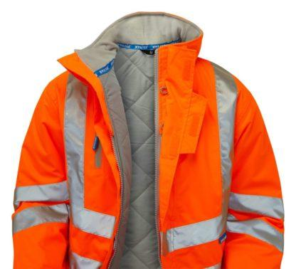 pulsar orange high vis padded storm coat
