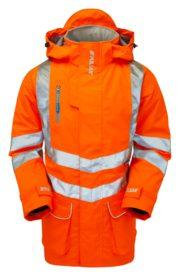 pulsar orange high vis padded storm coat