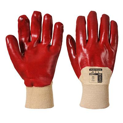 pvc portwest red gloves