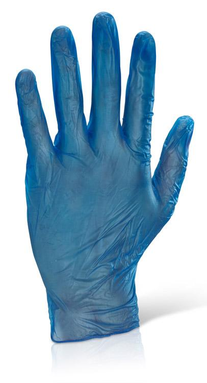 b-click vinyl disposable gloves